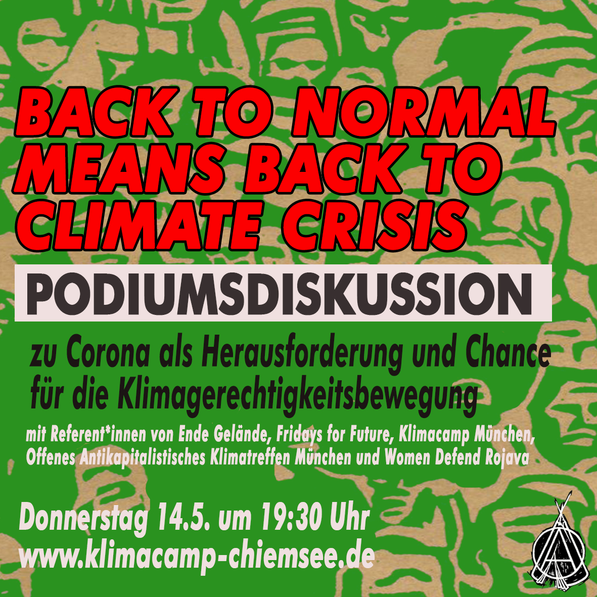 BACK TO NORMAL MEANS BACK TO CLIMATE CRISIS –  Podiumsdikussion